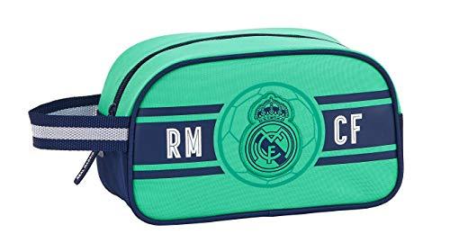 safta 812057248 Neceser, Bolsa de Aseo Adaptable a Carro Real Madrid CF, Verde (RM 3ª Equip Multicolor)