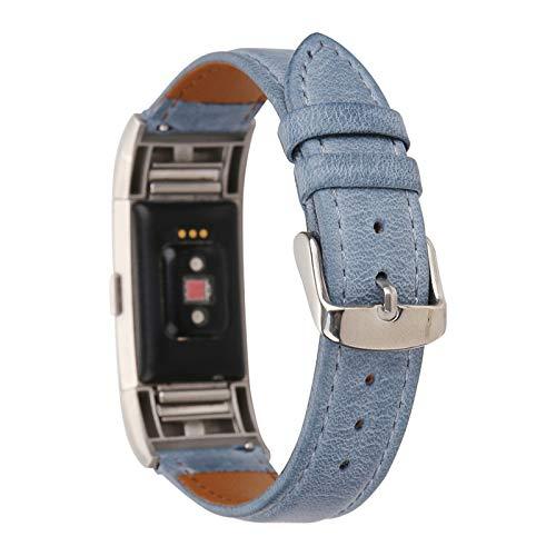 XIALEY Cinturino Compatibile con Fitbit Charge 2, Bracciale Polso in Pelle Donna Uomo Banda di Ricambio per Orologio Cinturini Cinghia Regolabile Braccialetto per Charge 2,B