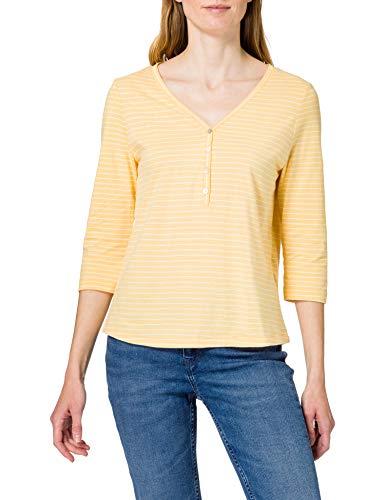 Only ONLMARY Life 3/4 Top JRS Camiseta, Cornsilk/Stripes:Cloud Dancer, XL para Mujer