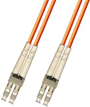 1 Meter Multimode Duplex Fiber Optic Cable (62.5/125) - LC to LC - Orange
