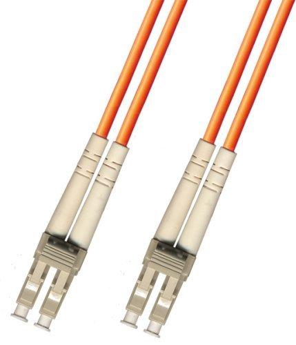 1 Meter Multimode Duplex Fiber Optic Cable (62.5/125) - LC to LC - Orange