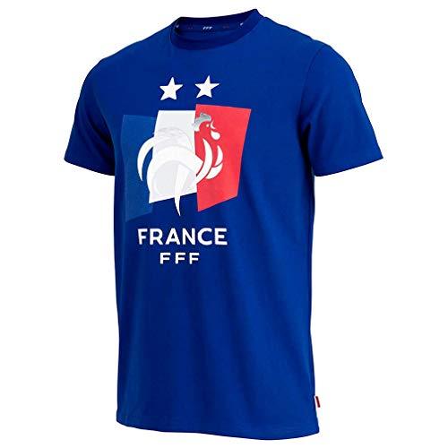 T-Shirt Enfant Équipe de France 'Drapeau' Officiel - Bleu (6 Ans)