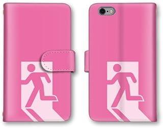 【ノーブランド品】 GALAXY S III Progre SCL21 スマホケース 手帳型 非常口 ピンク 非常口マーク おもしろ かわいい おしゃれ 携帯カバー SCL21 ケース 携帯ケース ギャラクシー
