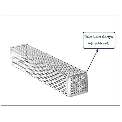 41hTqV8YISS. SL500  - ZCZZ Edelstahl Kalträucherbox BBQ Grillzubehör Holzchips Smoker Mesh Generator Box Outdoor (Größe : Quadratisch)