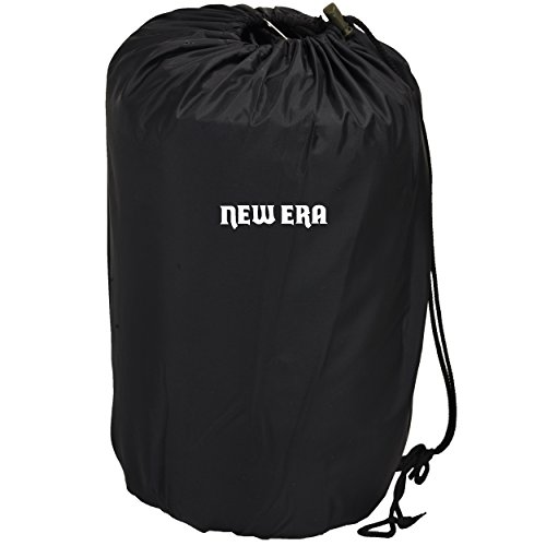 New Era STATT All Seasons Waterproof Sleeping Bag for Camping, Hiking and Adventure Trips for Adults (Black)