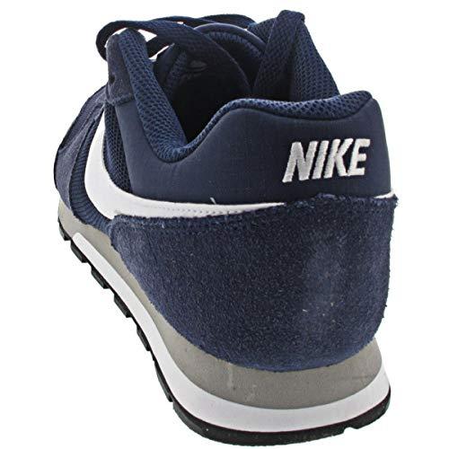 Nike MD Runner 2, Zapatillas Hombre, Azul (Midnight Navy/White/Wolf Grey), 41 EU