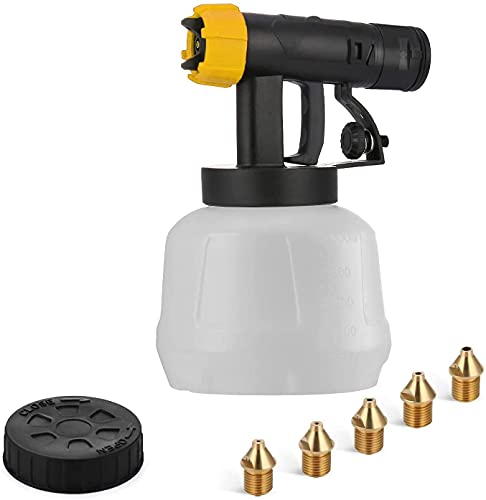 YATTICH Paint Sprayer Accessories for YT-201-A Yellow, Including 1000ml Container, Front Body, 5 Copper Nozzles, Nozzle Cleaning Needle, Cleaning Brush, Pot Lid, Spanner