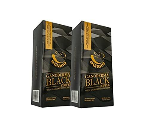 eGano 2 scatole di qualità premium Ganoderma nero caffè (3,5 g x 30 bustine /scatola)