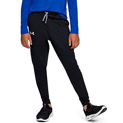 Under Armour Boys' Brawler Tapered Training Pants, Black (001)/White, Youth Medium