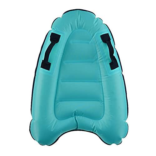 Yixikejiyouxian-A Playa Tablas de Surf inflables para niños flotantes Juegos de Piscina Juguetes flotantes Aprendizaje Alfombra Auxiliar de natación - Azul Claro 80x60cm