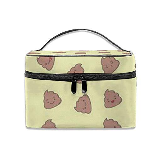 Kawaii Poop Fashion Travel Case Organizer Portable avec, Poche intégrée, Trousse de Toilette Multifonction