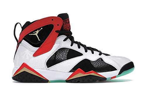 Nike Air Jordan 7 Retro GC, Zapatillas de básquetbol para Hombre, White Chile Red Black Mtlc Gold, 42 EU