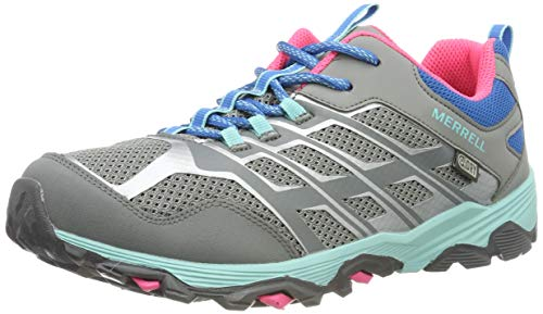 Merrell Moab FST Low WTRPF, Chaussures de Randonnée Basses Mixte Enfant, Gris (Gry/Tur/Pink), 30 EU