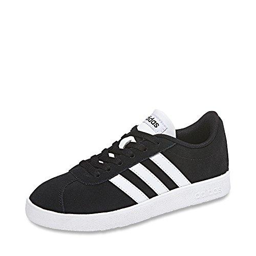 Adidas VL Court 2.0 K Db1827, Zapatillas Unisex Adulto, Negro Negbas Ftwbla 000, 38 EU