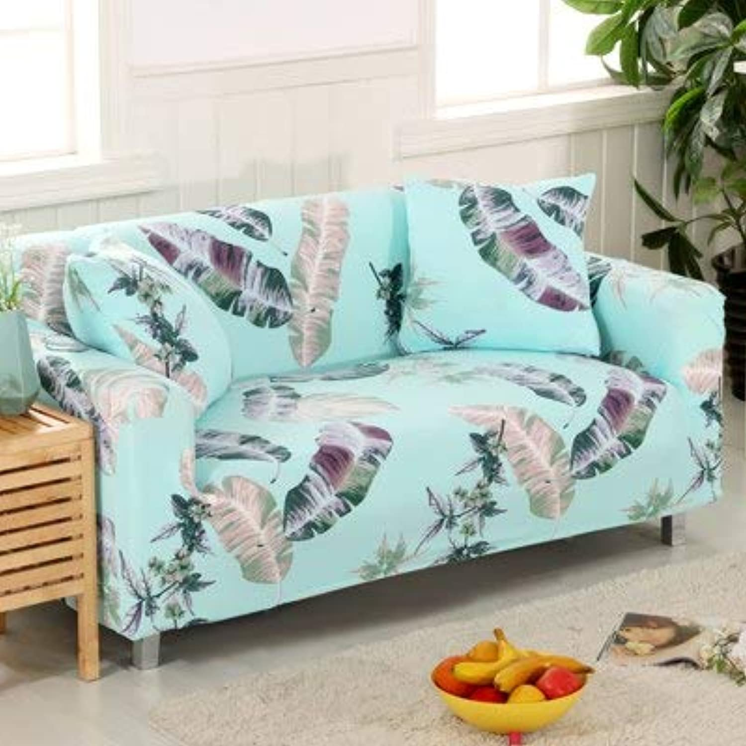 Lvory Stripe Sofa Cover All-Inclusive Elastic Spandex Slipcovers Stretch Corner Sectional Predective Couch Cover Nordic Simple   20, Double Seater