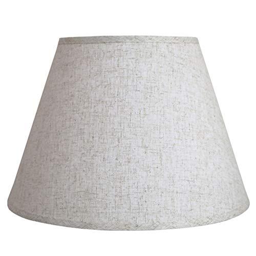 MYMAO Pantalla, Tela de Lino lámparas de Mesa y lámparas de pie,Gray b,50CM