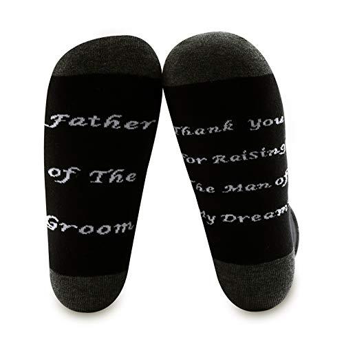 BNQL - Calcetines para padre del novio, regalo de novia para boda, suegro, gracias por criar al hombre de mis sueños Calcetines novio L