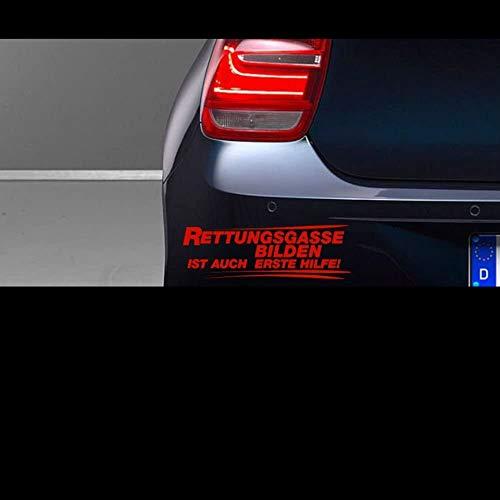 myrockshirt Rettungsgasse bilden ist auch erste Hilfe Typ S 20 cm breite Aufkleber,Sticker,Autoaufkleber,Heckscheibe,Lack,Auto,Feue