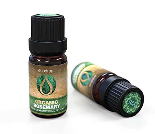 Rosemary Essential Oil, Certified Organic, 100% Pure, Best Therapeutic Grade for Aromatherapy,...