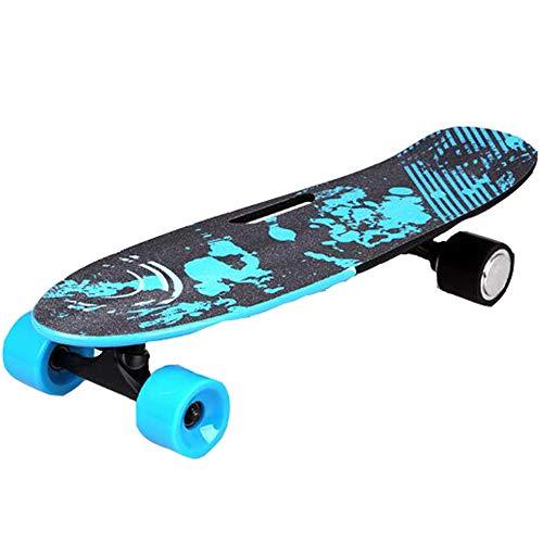 FGKING Elektrische Komplett-Skateboards, elektrisches Rollbrett, Mini-Longboard-Cruiser-Skateboard für Anfänger und Pendler in der Stadt,Blau
