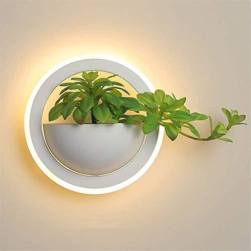 Lámpara industrial, 10W LED Lámpara de pared blanca lámpara de pared creativa lámpara de lectura lámpara de noche iluminación interior dormitorio decoración de la pared hierro de pared y acrílico cáli