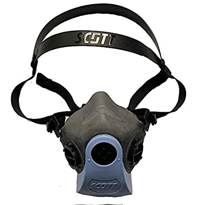 Scott Half Facepiece Reusable Face Cover 7421-412V for Health Protection (Size Small/Med)