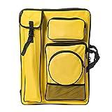 Caballetes de Dibujo Bolsa de Lona Impermeable con Cremallera Bolsa de Dibujo de Bosquejo de Hombro Doble multifunción 4k 66 * 49cm Profesional Maletín (Color : Yellow)