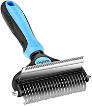 MalsiPree Pet Grooming Brush, 2 in 1 Deshedding Tool & Undercoat Rake Dematting Comb for Mats & Tangles Removing, Reduces Shedding up to 95%, Great for Short to Long Hair of Medium Large Dogs