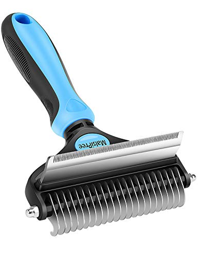 MalsiPree Pet Grooming Brush 2 in 1 Deshedding Tool amp Undercoat Rake Dematting Comb for Mats amp Tangles Removing Reduces Shedding by up to 95% Great for Short to Long Hair Medium Large Dogs