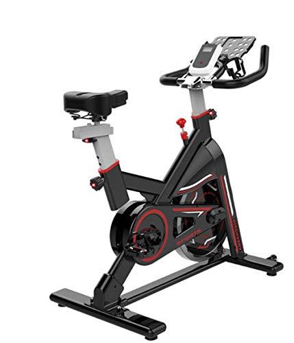 Lcyy-Bike Indoor Ciclismo Formatori Bicicletta Manuale Regolabile Resistenza 8 kg Volano con Smart Mobile App Simula Corse dal Vivo con Monitor & Tablet Kettle Video Online per Uomo/Donna Nero