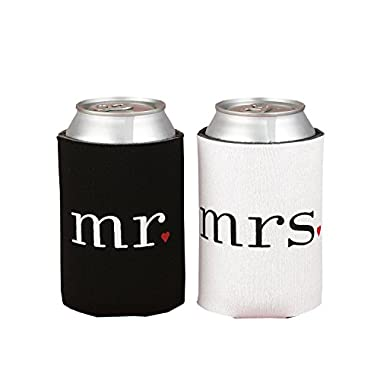 Ifavor123 Mr. and Mrs. Can Coolers Gift Set His & Hers Camping Outdoor Newlyweds Accesories