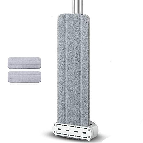 Trapeador de microfibra Trapeador de microfibra autoexprimible con recambios de trapeador lavable Trapeador para polvo húmedo y seco para todo tipo de suelo Trapeador de microfibra lavable y reutiliza