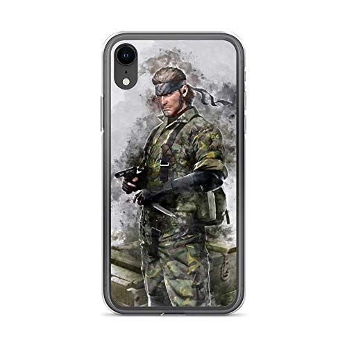 iPhone 7 8 Case Anti-Scratch Gamer Video Game Transparent Cases Cover Snake Metal Gear Solid Watercolor Gaming Computer Crystal Clear