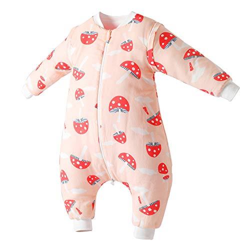 Happy Cherry Sac de Couchage pour Poussette précoce pour Enfants avec Couverture Amovible Manches Amovibles Pieds pour Le Printemps Automne - - 1-2 Ans
