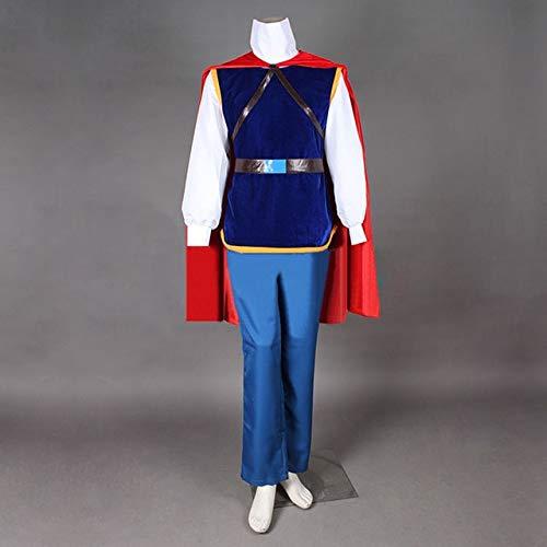 LJYNB Halloween Hada Blancanieves y los siete enanitos Disfraz de Pince parahombre PrncipeencantadorTrajes de cosplay Disfraz de prncipe Cualquier tamao XXXL azul