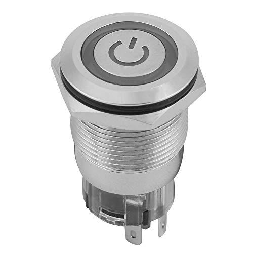 Fácil de instalar Interruptor de botón momentáneo, botón de push momentáneo rojo Auto Restablecer tipo 19 mm con cobre