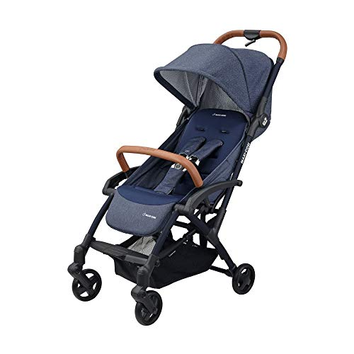 Maxi Cosi Laika 2 Baby Pushchair, Ultra Compact and Lightweight Stroller from Birth, Easy Fold, 0 Months-3.5 Years, 0-15 kg, Sparkling Blue