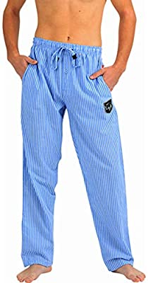 Ecko Unltd. - Mens Cotton Woven Stripe Sleep Lounge Pant, Blue, White 40736-Large from
