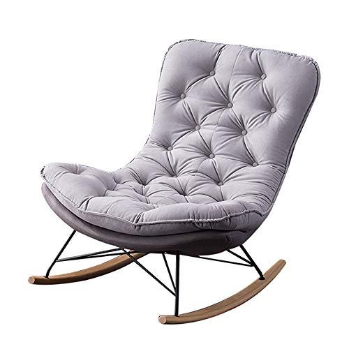 HUAYIN Moderner Samt Wohnzimmer Sessel, Bequeme Einzelsofastühle Club-Sessel mit hoher Rückenlehne für Schlafzimmer Lesung Wohnzimmer Stuhl mit Metallbeinen,D