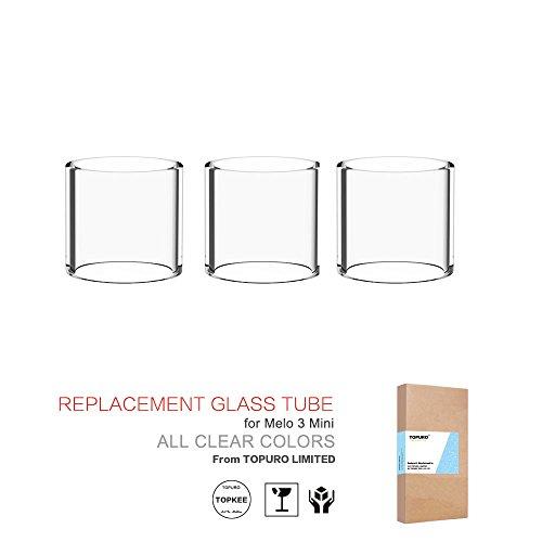 topkee Melo 3Mini (iStick pico) Pyrex Cristal de repuesto transparente (5unidades)