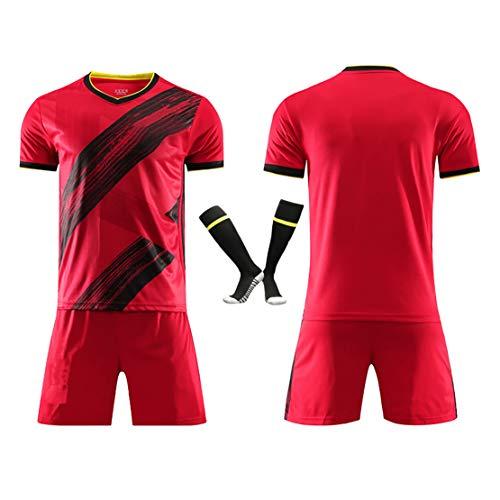Fußballuniform Männer # 10 Azar 20-21 Belgisches Trikot der Europäischen Champions League, atmungsaktive Fußballuniform für Kinderfußballuniformen für Erwachsene-Custom-XL