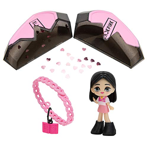 "Blackpink Broken Heart Superstars, Mystery Box, Featuring 3"" Lisa, Jennie, Jisoo or Rosé K-Pop Idol Doll, Including 3 Accessories, 1 Charm Bracelet, and 1 Charm"