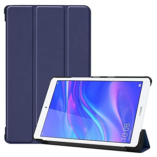 AHUOZ Funda para tablet Huawei Mediapad T5 8.0, ligera, triple soporte, para PC, rígida, de cuerpo completo, resistente a golpes, color azul