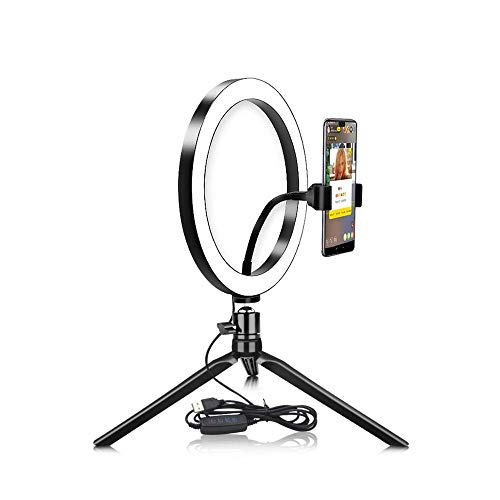 XIYUN Novelty USB Dimmable LED Selfie Ring Light Cellphone Photography Lighting With Tripod For Makeup Video Live Studio Light