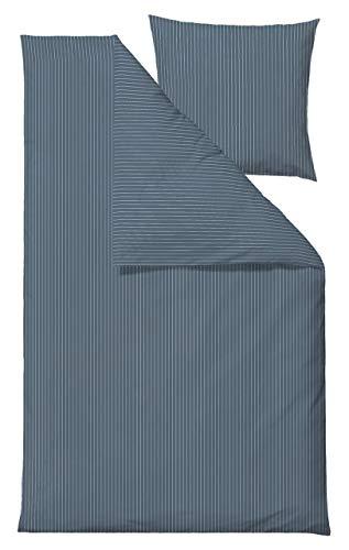 Södahl Juego de sábanas de algodón Azul petróleo 155 x 220 cm