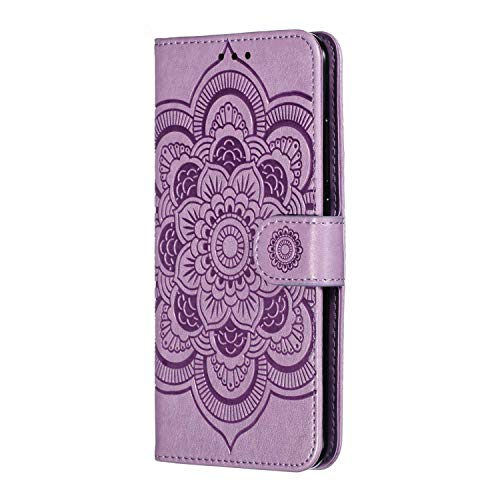 2.0 Version Mise /à Jour Ptny Flip Cuir Coque Housse Compatible Xiaomi Redmi Note 7 /Étui, Clear View Etui /à Rabat Cover Flip Case Miroir Antichoc T/él/éphone Portable Cover Violet