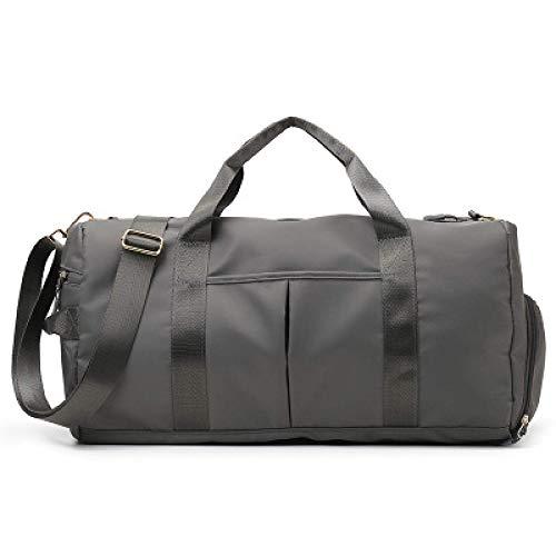 Bolsa de deporte, esterilla de yoga, bolsa de viaje, color gris