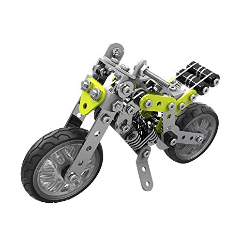 Fdit DIY Building Blocks Motorcycle Plastic Assembly Toy Puzzle Brain Game Model(#SW-003)