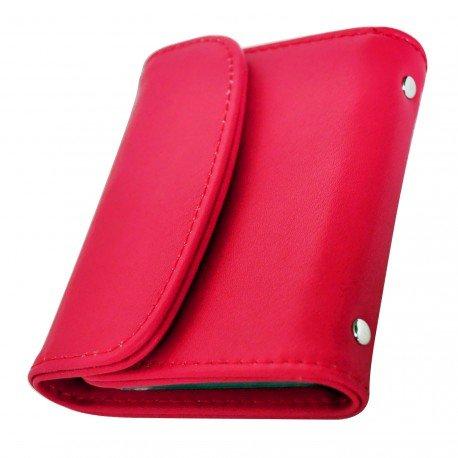 Charmoni-Porta carte di credito, blu visita precisione da donna, in sacchetto da uomo in cuoio sintetico nuovo Floris rosa taglia unica