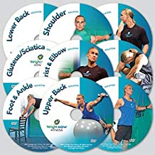 9 Isolation Exercise and Stretch Workout DVDs to Lessen Pain, Increase Strength, Improve Flexibility and Range of Motion from Head to Toe with Aaron Wright